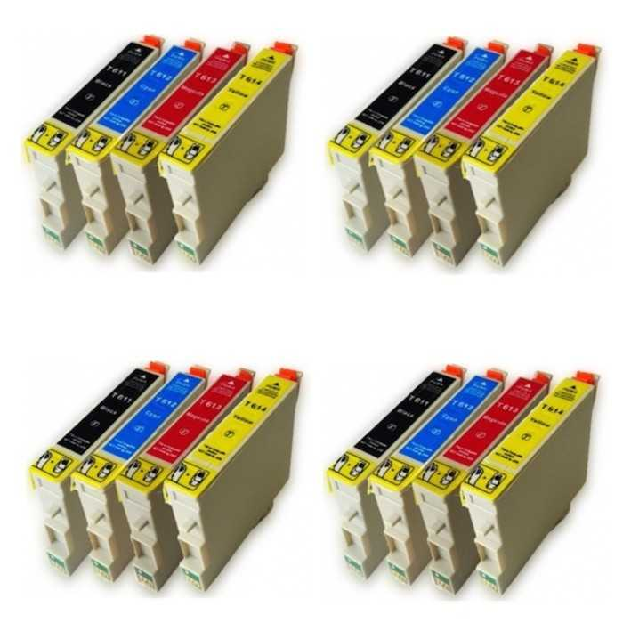 Pack 16 Tinta Compatible Epson T0611 T0612 T0613 T0614