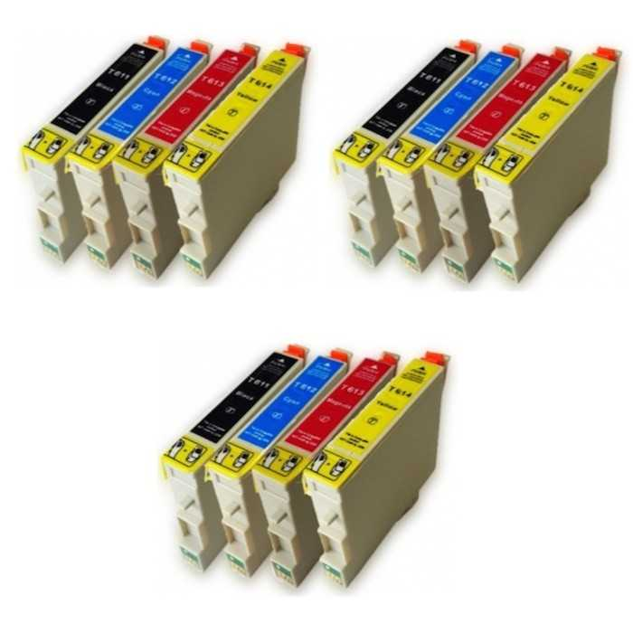 Pack 12 Tinta Compatible Epson T0611 T0612 T0613 T0614