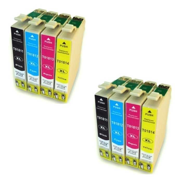 Pack 8 Cartuchos Tinta Compatible Epson 18 XL