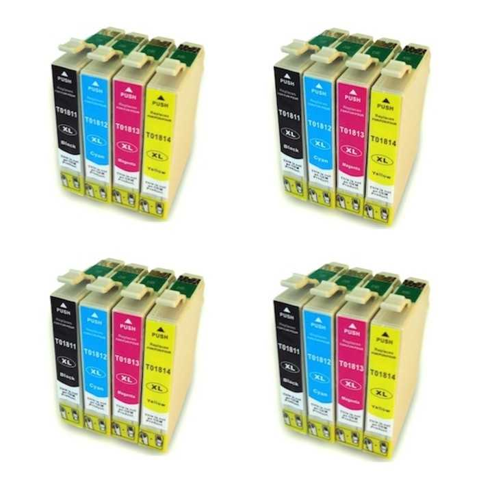 Pack 16 Cartuchos Tinta Compatible Epson 18 XL