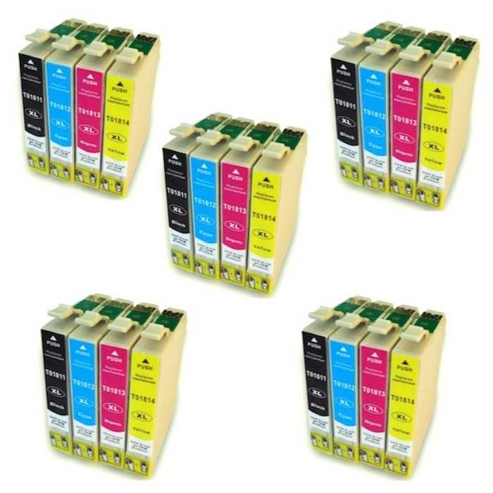 Pack 20 Cartuchos Tinta Compatible Epson 18 XL