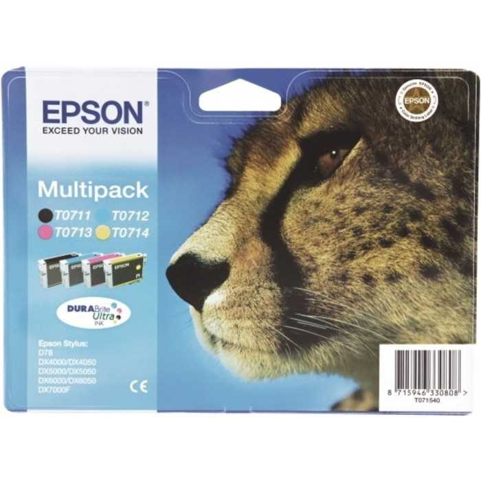 Pack 4 Cartuchos Tinta Espon T0715 / C13T07154011