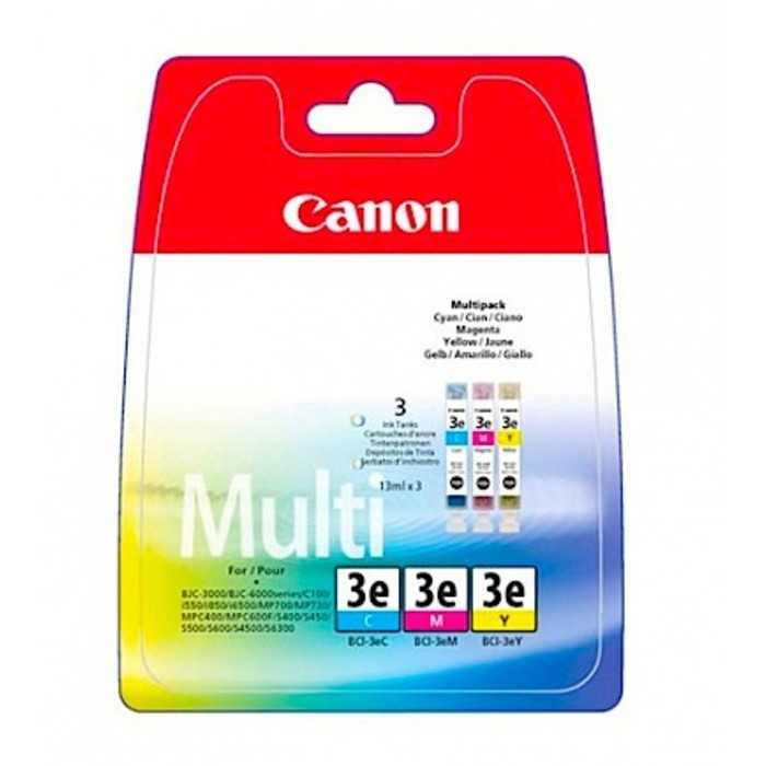 Pack 3 Cartucho Original Canon BCI-3E Color