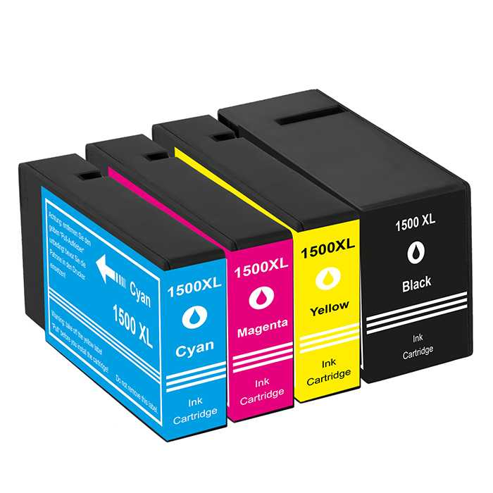Pack 4 Cartuchos Compatibles Canon PGI-1500XL