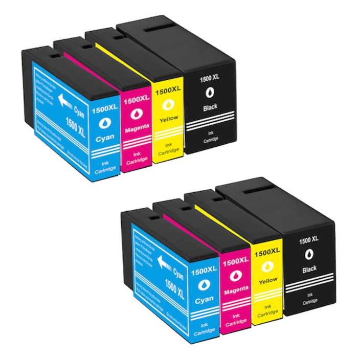 Pack 8 Cartuchos Compatibles Canon PGI-1500XL